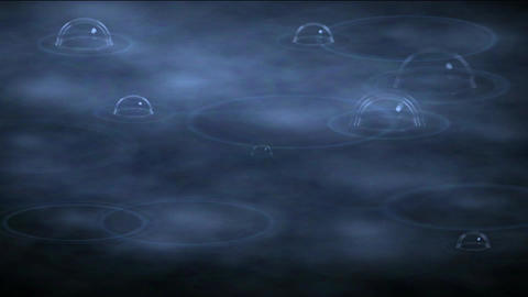 boiling bubble in spa,water drop & ripple in pond Stock Video Footage