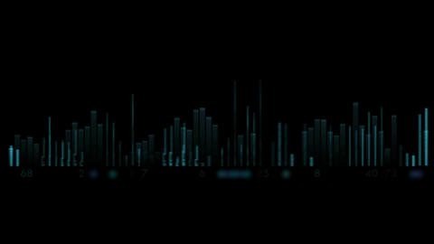 video equalizer,music rhythm Volume,speakers waves... Stock Video Footage