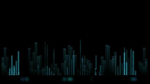 video equalizer,music rhythm Volume,speakers waves... Stock Video Footage