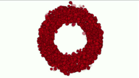 rose petals shaped wreath,wedding background,Valentine's Day Animation