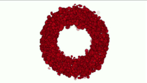 rose petals shaped wreath,wedding background,Valentine's Day Stock Video Footage