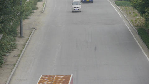 Cars Vehicle traveling on overpass road.Urban town busy traffic,timelapse Footage
