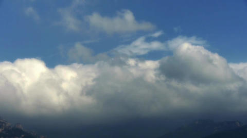 Clouds on top of hill & mountain Footage