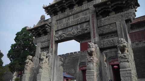 China stone arch & ancient city gate Footage