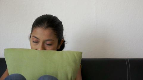 Depressed Woman Stock Video Footage