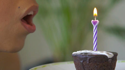Blowing out a Candle Footage