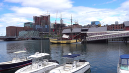 Boston Tea Party Museum Establishing Shot Footage