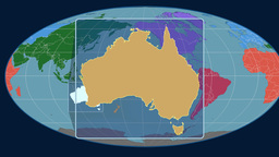 Australia (Mollweide). Continents Animation
