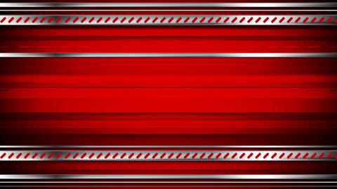 Abstract tech red video animation with metallic stripes Animation