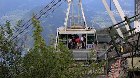 Timelapse - People going into the cable car Footage