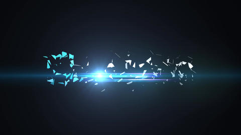 Clean Dark Elegant Logo Shatter Implosion Light Intro After Effects Template