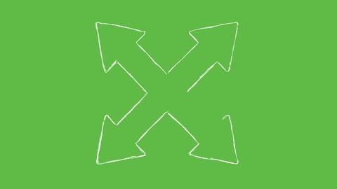 Greenscreen Hand Drawn Chalk Arrows Vol1