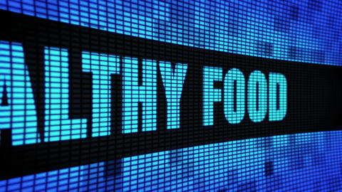 Healthy Food Side Text Scrolling LED Wall Pannel Display Sign Board Live Action