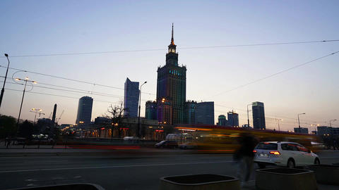 The Palace of Culture and Science in Warsaw Footage