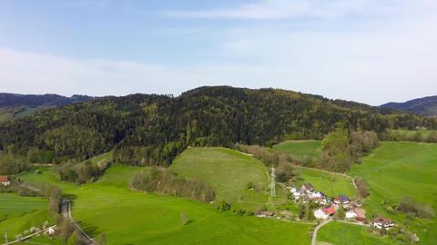 [alt video] Drone-Flight Black Forest Germany fly spin90 village forest