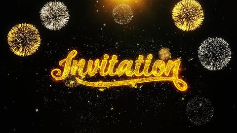 Invitation Wishes Greetings card, Invitation, Celebration Firework Looped Live Action
