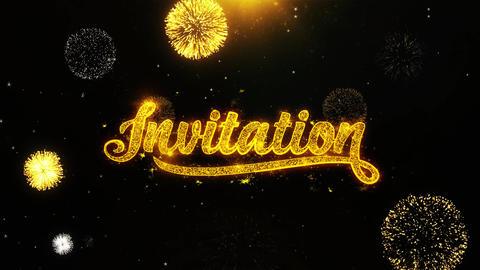 Invitation Wishes Greetings card, Invitation, Celebration... Stock Video Footage