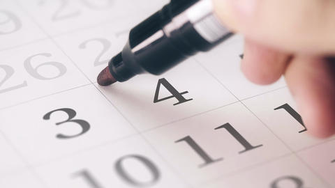 Marked the fourth 4 day of a month in the calendar transforms into DEADLINE text Live Action