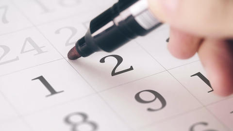 Marked the second 2 day of a month in the calendar transforms into DEADLINE text Live Action