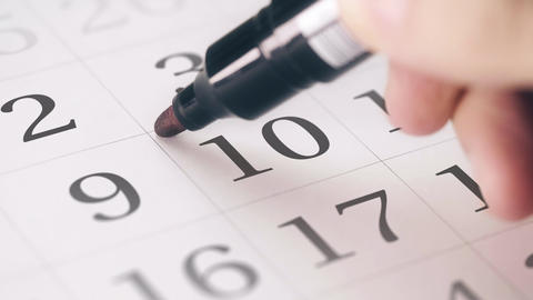 Marked the tenth 10 day of a month in the calendar transforms into DEADLINE text Live Action
