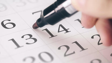 Marked the fourteenth 14 day of a month in the calendar transforms into DEADLINE Live Action