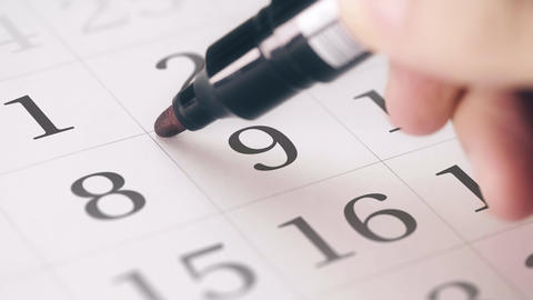 Marked the nineth 9 day of a month in the calendar transforms into DEADLINE text Live Action
