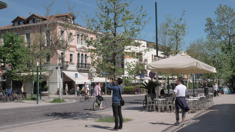 Townscape of Lido island in Italy Archivo