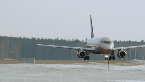 Aeroflot Sukhoi Superjet 100 taxiing at Moscow airport, Russia Archivo
