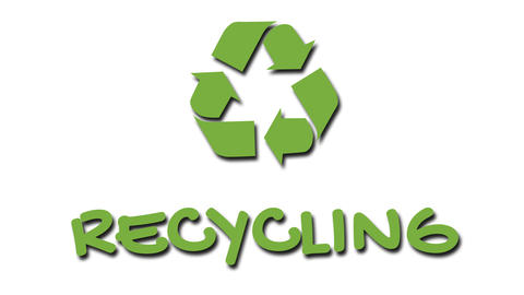"""Animated recycling logo with """"green"""" slogan - Recycling Live Action"""