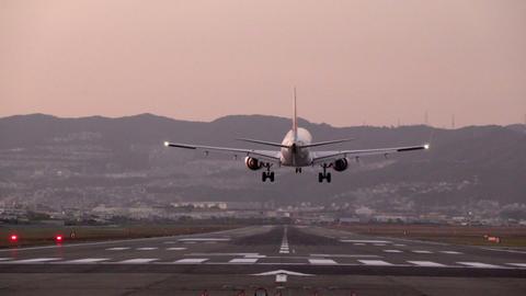 slow motion of landing big plane GIF