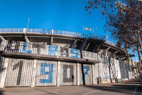 The exterior of the football stadium where Atalanta plays Fotografía