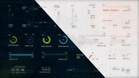 Infographic HUD set 3 After Effects Template