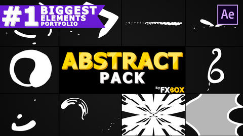 Cartoon Abstract Elements After Effects Template