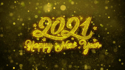 New Year 2021 Wishes Greetings card, Invitation, Celebration Firework Live Action