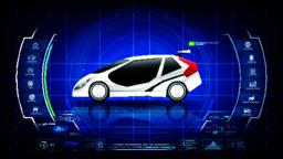 Electronic EV car with AI interface 001 ベクター
