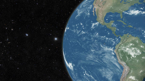 Planet earth from space Animation