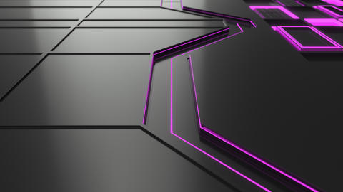 0774 Animated futuristic technological or industrial background loop Footage