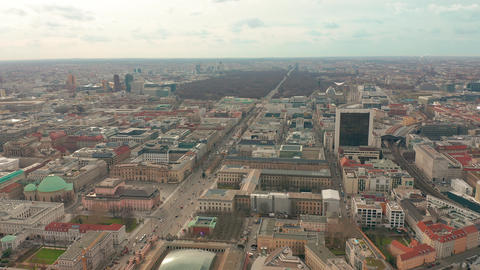Panoramic view of Berlin with TV tower, one of the city symbols. Clouds move Footage