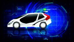 Electronic EV car with AI interface 002 ベクター