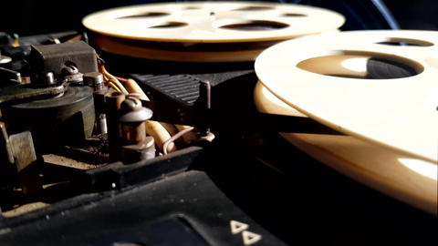 Magnetic Reel Tape Recorder Live Action