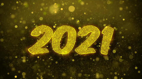 2021 Happy new year Wishes Greetings card, Invitation, Celebration Firework Live Action