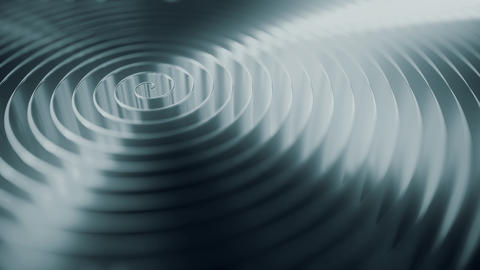 Rotating grey coil, shallow focus. Loopable motion background Live Action