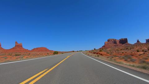 Hyperlapse Drive through Monument Valley Archivo
