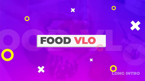 Food Vlog Pack After Effects Template
