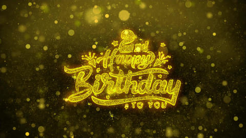 2nd Happy Birthday Wishes Greetings card, Invitation, Celebration Firework Live Action