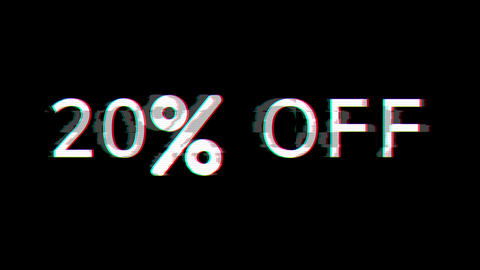 From the Glitch effect arises 20% OFF. Then the TV turns off. Alpha channel Premultiplied - Matted Animation