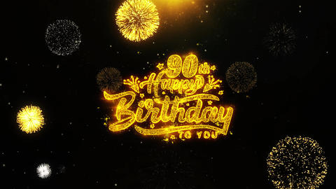90th Happy Birthday Wishes Greetings card, Invitation,... Stock Video Footage