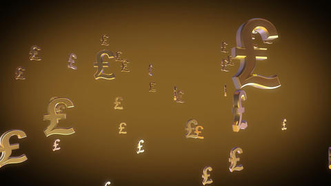 Euro sign falling, 3D animation Stock Video Footage