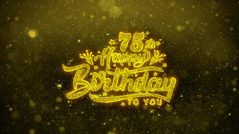 75th Happy Birthday Wishes Greetings card, Invitation,... Stock Video Footage