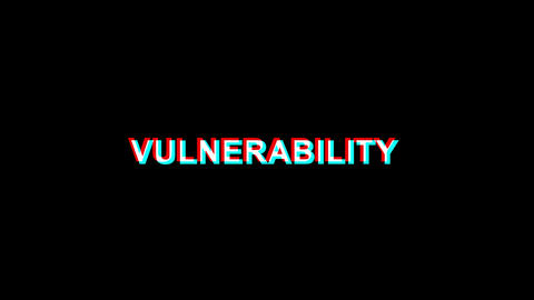 Vulnerability Glitch Effect Text Digital TV Distortion 4K Loop Animation Live Action
